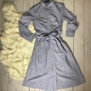 J CREW | Chambray Shirt Dress | NEW | Size 2